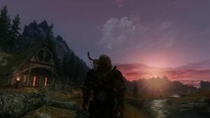 Elder Scrolls Skyrim Whiterun Sunset