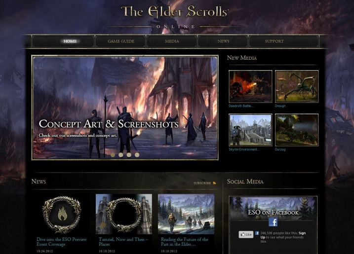ElderScrollsOnline.com official website