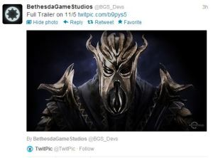 Bethesda Game Studios' Tweet re Dragonborn DLC for Skyrim